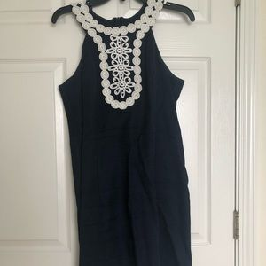 Just...Taylor Navy and white embroidered dress